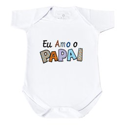 Body Manga Curta - Eu Amo o Papai